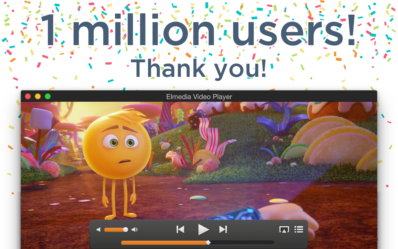Elmedia Player hits one million user mark