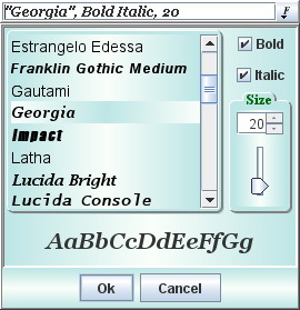 Modern  drop-down  font  selection  field  features  many configurable
