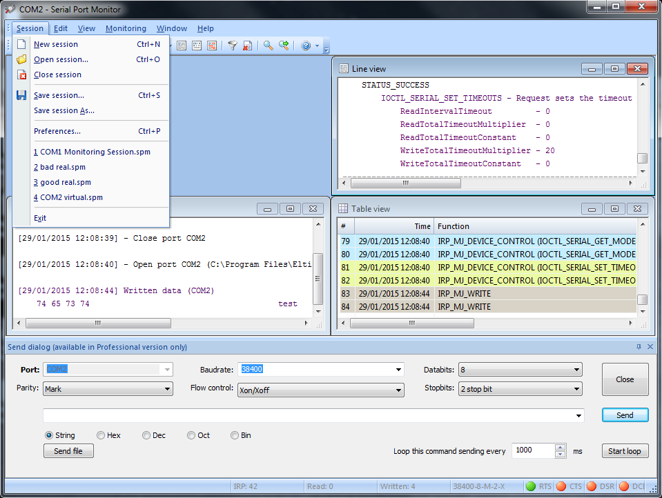 Serial Port Analyzer : Serial port monitor rs sniffer