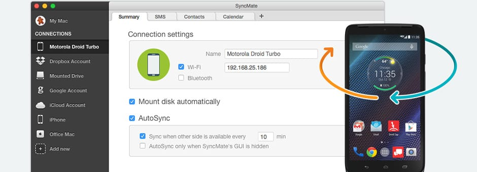 Sync Motorola and Mac with Motorola suite for Mac
