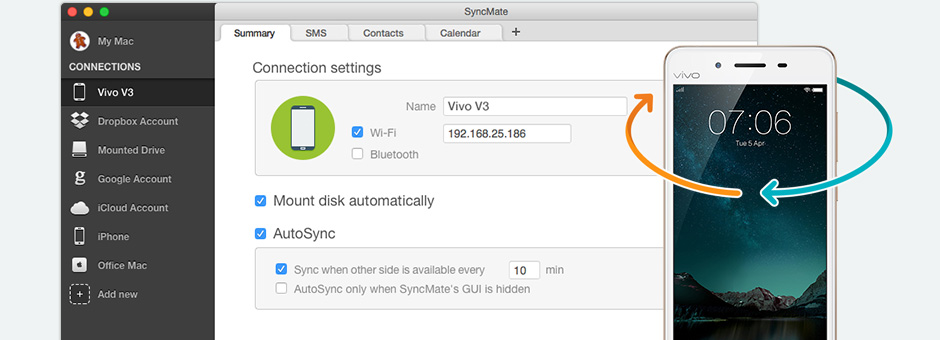 Sync Mac and Vivo phones with Vivo suite for Mac