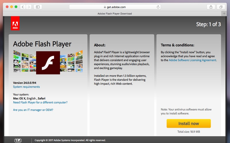 Adobe flash download problems mac
