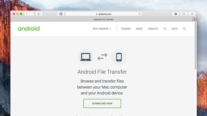 Application Android File Transfer
