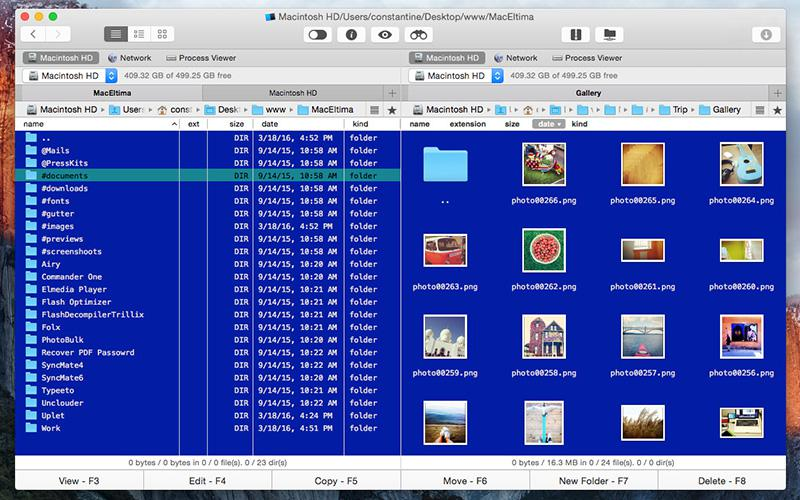 Commander One for Mac OS X