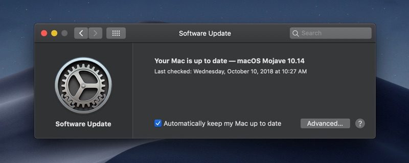 How to update Mac OS on Mojave
