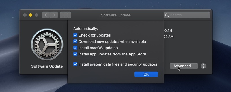 Update Mac OS on Mojave