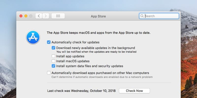 How to disable automatic macOS update