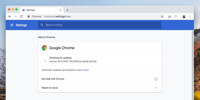How to update Google Chrome on Mac