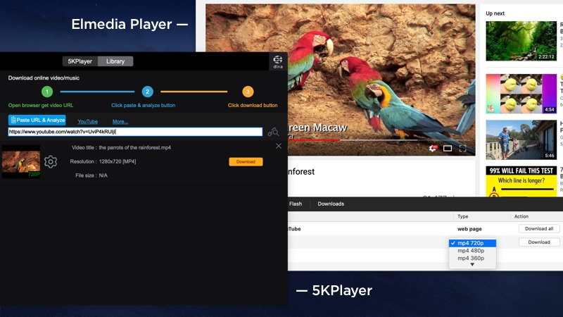 Alternatives to 5KPlayer Review: Elmedia Player