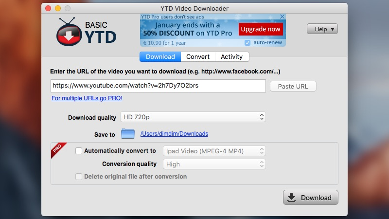 YTD Video Downloader screenshot