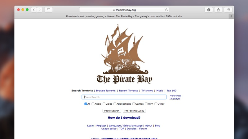 PirateBay torrents