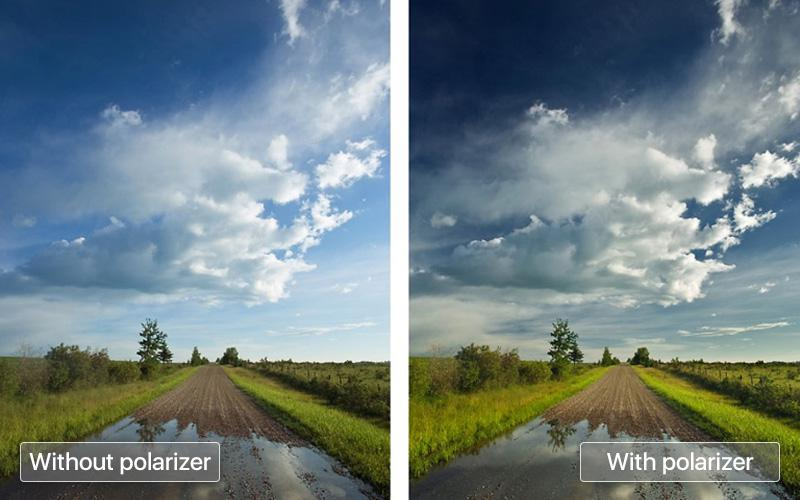 Use a polarizing filter