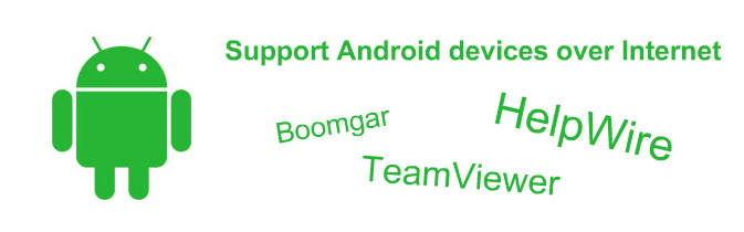 remote support of Android devices