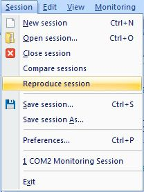 Start a monitoring session