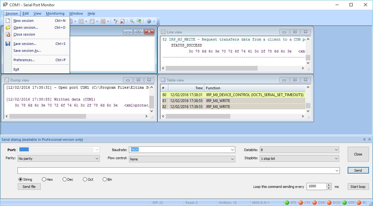 Serial Port Analyzer : Rs sniffer monitor eltima analyzer