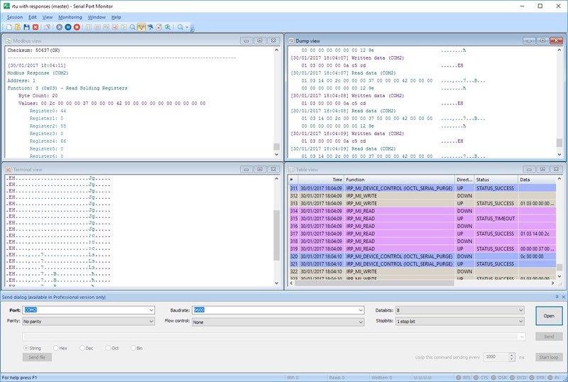 hhd software serial port monitoring control