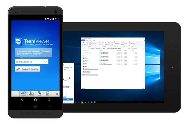 TeamViewer allows to transfer files between your computer and Android device