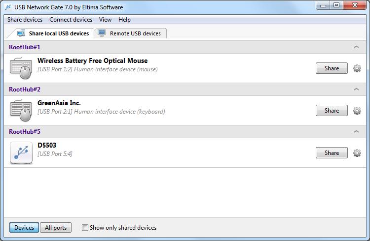 usb sharing software free
