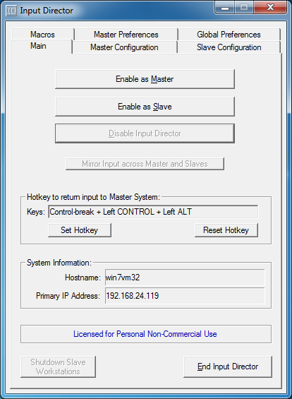 Setup your network address