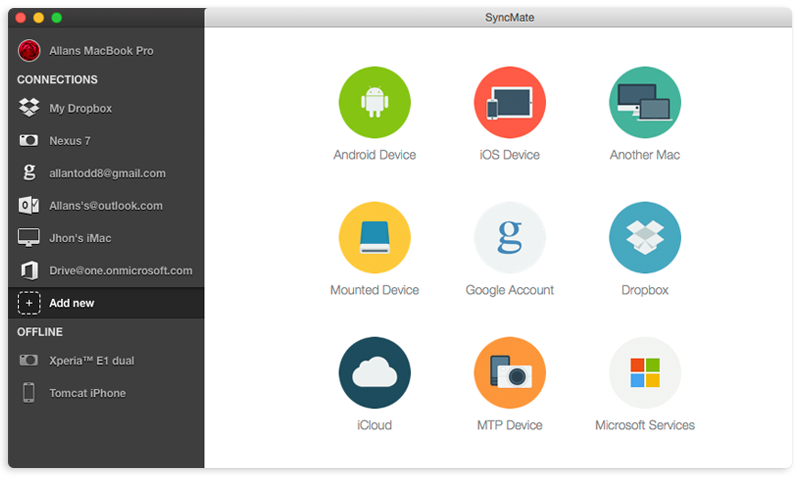 SyncMate: sync Mac with Android devices