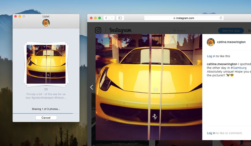 Uploader per Instagram Mac