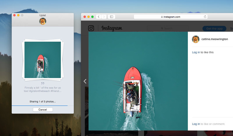 how to upload picture on instagram on mac