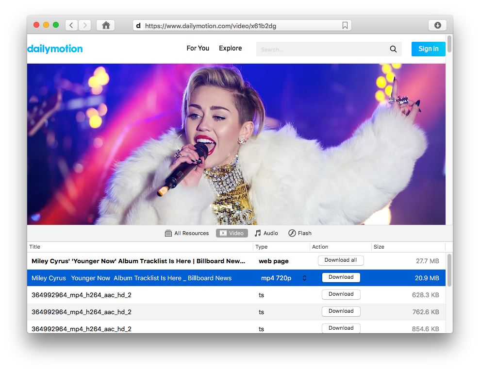Mac video downloaders from Dailymotion