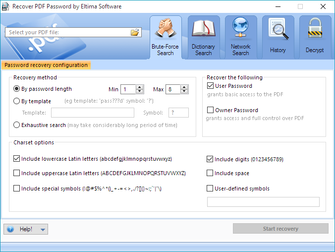 advanced pdf password recovery free download