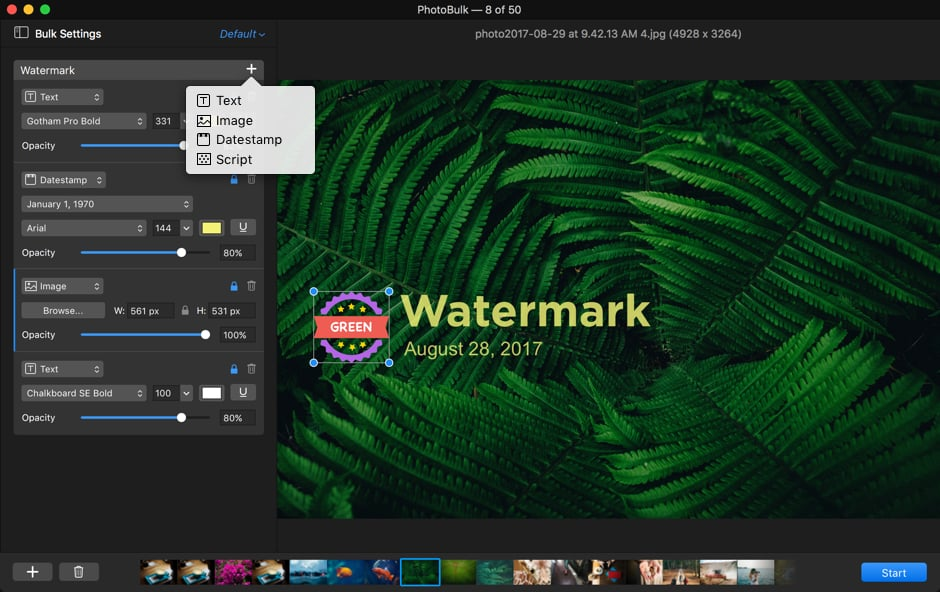 Add watermark to image on Mac