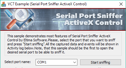 Serial Port Sniffer ActiveX