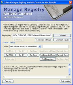Manage Registry ActiveX Control 2.0