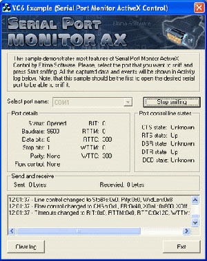Serial Port Monitor ActiveX 3.0