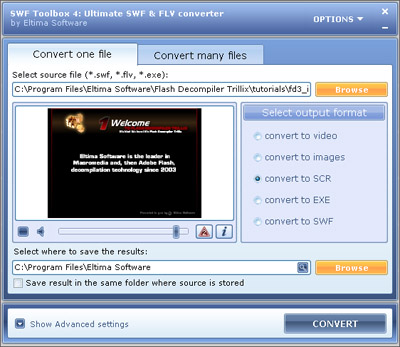 Easy-to-use SWF to AVI converter for everyone