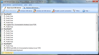 Windows 7 USB over IP Connector 5.0 full